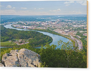 Chattanooga Spring Skyline Wood Print