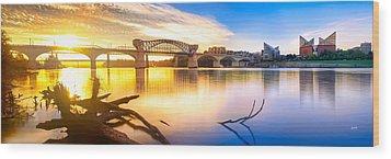 Chattanooga Sunrise 2 Wood Print by Steven Llorca