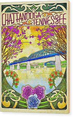 Chattanooga Tourism 1 Wood Print