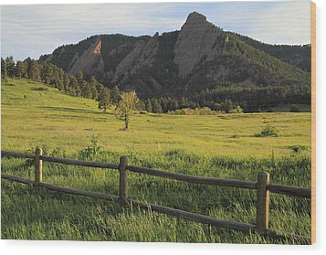 Chautauqua Park And Flatirons Wood Print by Scott Rackers