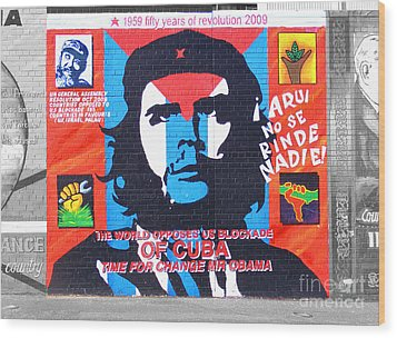 Che Guevara Wood Print by Nina Ficur Feenan