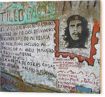 Che Guevara Wood Print by Ramona Johnston