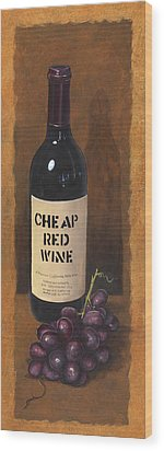 Cheap Red Wine Wood Print by Terri  Meyer