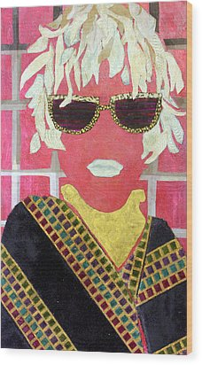 Cheap Sunglasses Wood Print by Diane Fine
