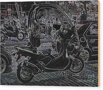 Check Out My Ride Wood Print by Sue Melvin