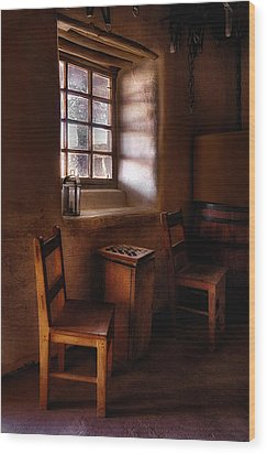 Checkers At Bent's Old Fort Wood Print by Priscilla Burgers