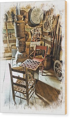 Checkers At The General Store Wood Print by Kenny Francis