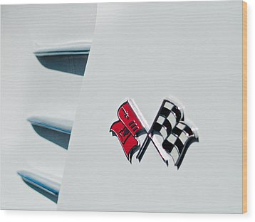 Checkers Wood Print by Bill Gallagher
