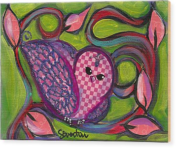 Checkers Birdy Wood Print