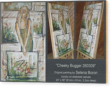 Wood Print featuring the painting Cheeky Bugger 260309 Comp by Selena Boron