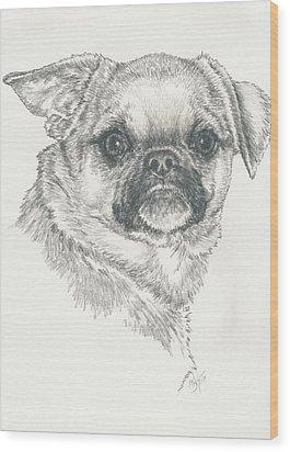 Cheeky Cheeks Wood Print by Barbara Keith