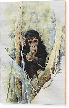 Cheeky Wood Print by Roger Bonnick