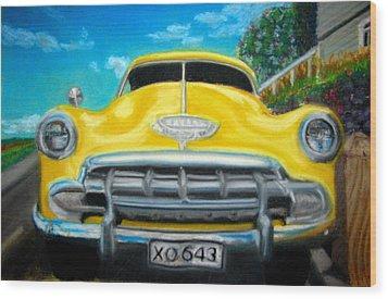 Cheerful Chevy Wood Print