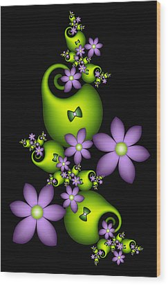 Wood Print featuring the digital art Cheerful by Gabiw Art