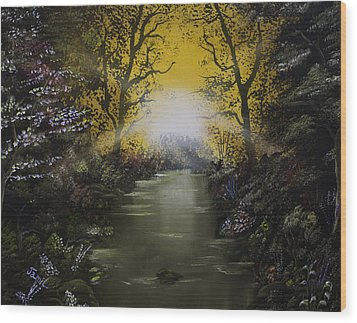 Cheerful Sunrise  Wood Print by Jamil Alkhoury