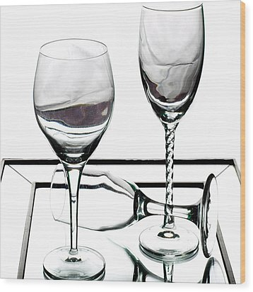 Cheers Wood Print by Camille Lopez