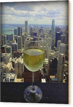 Cheers Chicago Wood Print