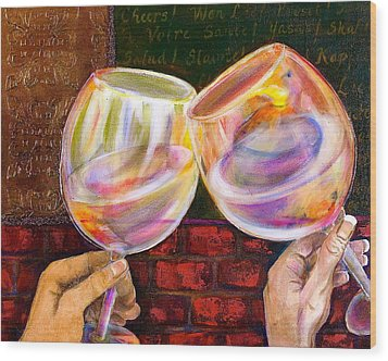 Cheers Wood Print by Debi Starr