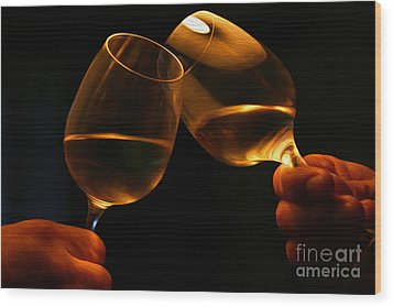 Cheers Wood Print by Patricia Hofmeester