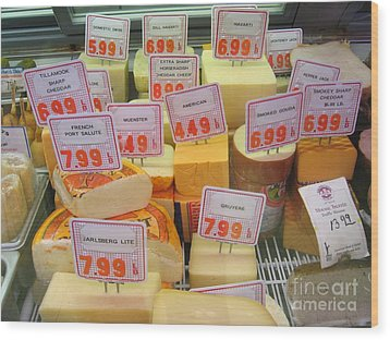Cheese Display Wood Print