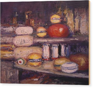 Cheese Shop Window Wood Print by R W Goetting