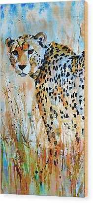 Cheetah Wood Print by Steven Ponsford