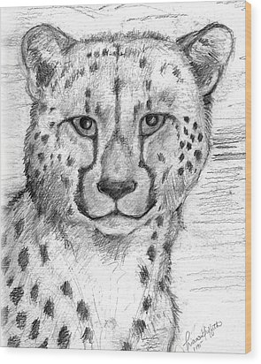 Cheetah Wood Print by Tricia Griffith