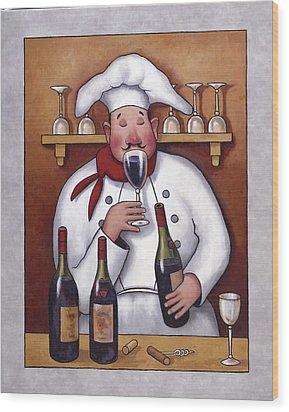 Chef 1 Wood Print by John Zaccheo