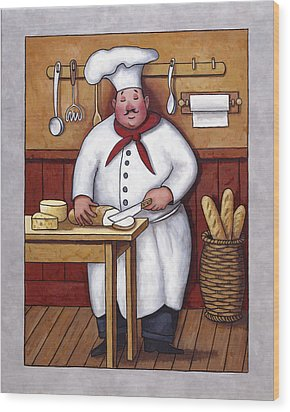 Chef 3 Wood Print by John Zaccheo