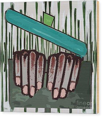 Chef Wood Print by Patrick J Murphy