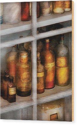 Chemist - Flavor Lab Wood Print by Mike Savad