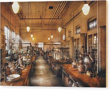 Chemist - The Chem Lab Wood Print by Mike Savad