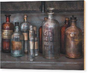 Chemist - Things That Burn Wood Print by Mike Savad