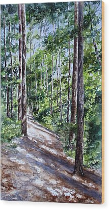 Cheraw Trail Wood Print by Mary McCullah