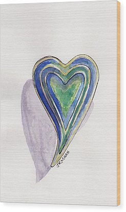 Wood Print featuring the painting Cherished Heart by Julie Maas