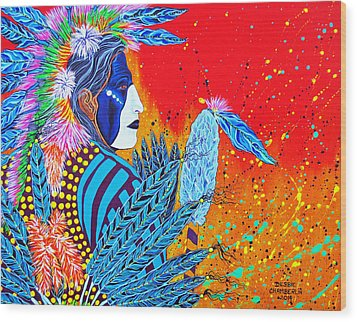 Cherokee Dancer Wood Print