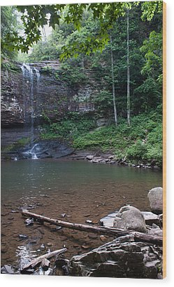 Cherokee Falls Wood Print