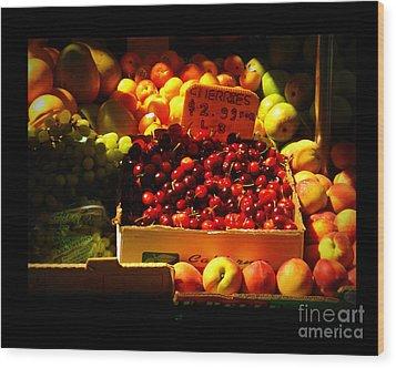 Cherries 299 A Pound Wood Print by Miriam Danar