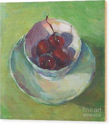Cherries In A Cup #2 Wood Print by Svetlana Novikova