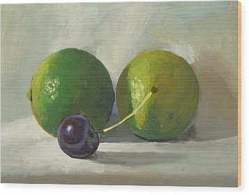 Cherry And Limes Wood Print by Peter Orrock