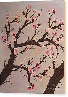 Cherry Blossom 1 Wood Print by Barbara Griffin