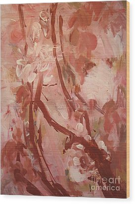 Wood Print featuring the painting Cherry Blossom by Fereshteh Stoecklein