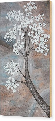 Cherry Blossom Wood Print by Home Art