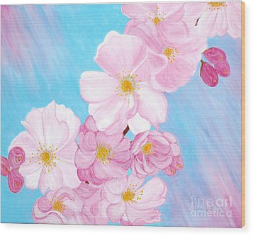 Cherry Blossom. Soul  Collection. Wood Print by Oksana Semenchenko
