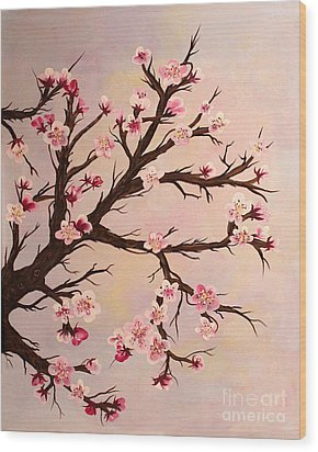 Cherry Blossoms 2 Wood Print by Barbara Griffin