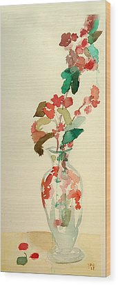 Cherry Blossoms Wood Print by Janet Gunderson