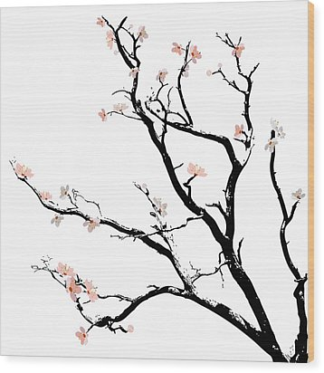Cherry Blossoms Tree Wood Print