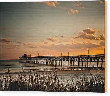 Cherry Grove Pier Myrtle Beach Sc Wood Print