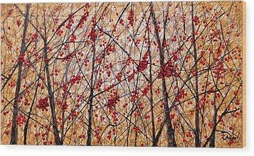 Cherry IIi Wood Print by Angel Ortiz