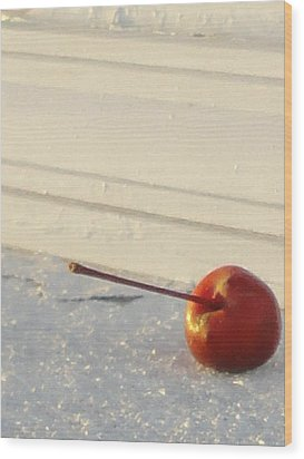 Cherry In The Spotlight Wood Print by Guy Ricketts